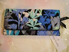 VERA BRADLEY Trifold Wallet Sleek Design CAMOFLORAL Blue Floral