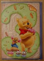 Winnie the Pooh & Roo 3rd Birthday Card for Boys/Girls - BNIP