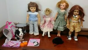 American Girl Dolls and Extras + AMERICAN GIRL DOG WITH ACCESSORIES