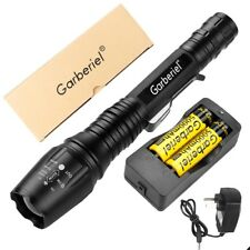 Garberiel 60000LM T6 LED Rechargeable Super Bright Torch Flashlight Lamp+2X18650