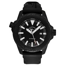 Zeno Men's Divers Black Dial Black Rubber Strap Automatic Watch 6603-BK-A1