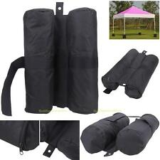 Leg Weights Bag for Pop up Canopy Tent Feet Sand Bag Party Camping Black Gazebos