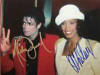 Michael Jackson / Whitney Houston Autographed Signed 8x10 Photo REPRINT