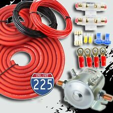 300 Amp Heavy Duty Dual Auxiliary Battery Isolator Complete Kit w/ Copper Cables