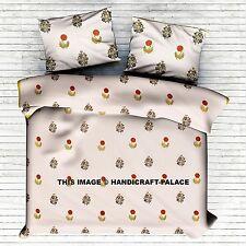 Indian Floral Printed Cotton Duvet Cover Quilt Cover Blanket King Comforter Set