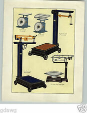 1919 PAPER AD Platform Warehouse Grocery Counter Scale OVB Our Very Best COLOR