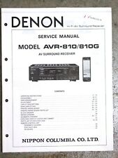 DENON AVR-810 / AVR-810G Dealer Service Manual Original Not a Copy