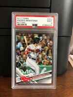 2017 Topps Andrew Benintendi Batting Red Sox Rookie Card #283 PSA 9 Mint