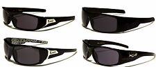NEW Extra Wide Black Locs Rectangle Square Wrap Men's Sunglasses UV400 - LOC9072