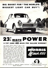 "1957 MORRIS MINOR BMC 1000 AD A1 CANVAS PRINT POSTER FRAMED 33.1""x23.4"""
