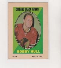 1970-71 Topps Sticker Stamps #BOHU Bobby Hull Chicago Blackhawks Hockey Card