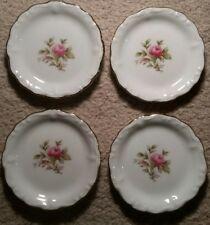 "Set of 4 Johann Haviland Bavaria,Germany Mini Plates,Rose Design,3 1/2"" Diameter"