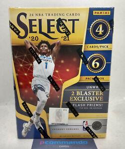 2020-21 Panini Select Basketball NBA Cards Sealed Blaster Box 2021 Flash Prizms