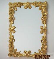 XXL Diseñador Espejo de Pared Antiguo Barroco Rococo 100x71 en Dorado Espejo Woe