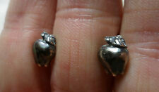 Apple Earrings 925 Sterling Silver Stud Post Teacher Garden Fruit Orchard Horse