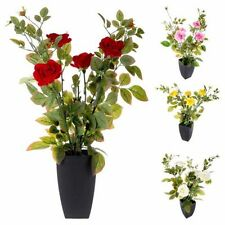 Faux Silk Rose Bush Dried & Artificial Flowers