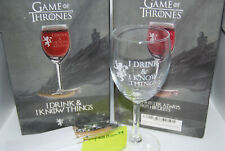New Listing(2) I Drink and I Know Things Wine Glass Game of Thrones New Lannister