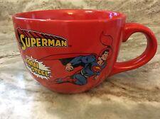 Extra Large Superman Coffee Mug. The Original Man Of Steel. Red. New.