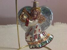 "Old World Chistmas ""Take Note Angel"" Glass Ornament"