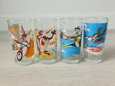 """*Vintage* IXL Collectable Loony Tunes Year 2000 """"Extreme Sports"""" Glasses. X 4."""