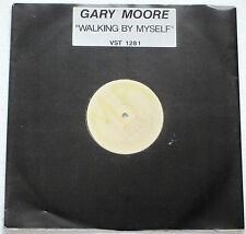 "GARY MOORE WALKING BY MYSELF + 2 LIVE TRACKS 12"" WHITE LABEL PROMO SINGLE 1990"