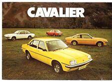 Vauxhall Cavalier Mk1 1976 UK Market Smaller Format Foldout Brochure L GL Coupe