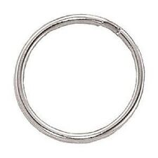 100 Pack 1'( 25mm ) Nickel Plated Steel Round Edged Split Ring Keychain rings