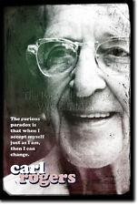 Carl rogers ART PRINT Poster Photo Cadeau Citation psychothérapie thérapie thérapeute