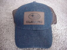 Genuine Subaru LOGO Patch BLUE DENIM Trucker Ventilated Snapback Hat Cap