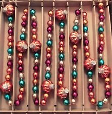 Shiny Brite 7Ft Vintage Fall Pumpkin Garland Christopher Radko Colorful Beads