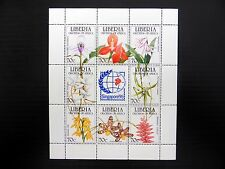 LIBERIA 1995 Singapore Orchids M/Sheet U/M NEW PRICE FP8400