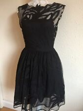 ASOS SIZE 8 BLACK LACE NET SKATER DRESS