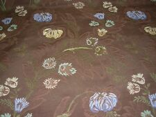 "~21 4/8 YDS~STROHEIM~""FLORAL""~EMBROIDERED ELEGANT UPHOLSTERY FABRIC FOR LESS~"