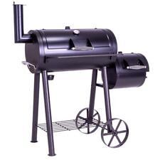 Smoker BBQ Grill Grillwagen Holzkohlegrill Standgrill XL 28 kg 120 x 60 cm Stahl
