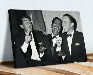 The Rat Pack  CANVAS WALL ART 30MM DEEP FRAMED PRINT HOLLYWOOD MOVIE ARTWORK