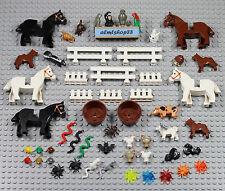 LEGO - 55 pcs Animals Lot - Horse Dog Cat Chicken Pig Rabbit Monkey Skunk Farm
