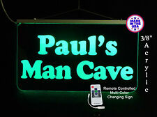 Personalized LED Man Cave Garage Sign, Gift for Dad, Bar Sign