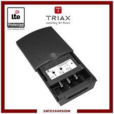 Préamplificateur LTE Triax MFA 611 1 Entrée DAB-UHF 2 sorties Gain 25/30 dB