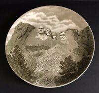 Vintage Mount Rushmore National Memorial Souvenir Plate Johnson Bros England Mt