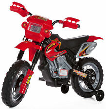New Kids Ride On Car Motocross Style Electric Motorbike 6v Battery Bike In Red