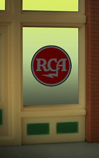 "RCA  TERRIFIC ANIMATED WINDOW SIGN -CAN BE TRIMMED AS SMALL AS 0.8"" DIAMETER"
