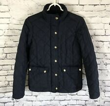 J. Crew Quilted Navy Jacket Womens Size XS