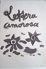Rare vintage Imagerie Pellerin/Lettera Amorosa single proof Arches paper INV2282