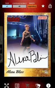 TOPPS WWE SLAM - ALEXA BLISS Gold Heritage Legendary Sig 40cc - DIGITAL CARD