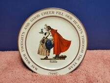 Vintage 1980 Norman Rockwell Collectors Plate Hallmark Cards Limtes Edition