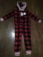 child boy pajama onepiece canadian buffalo plaid 4T Hoodie soft nwt rustic look