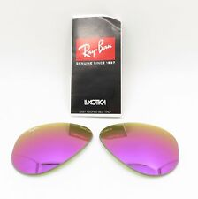RAY BAN REPLACEMENT LENSES AVIATOR 3025 112/4T 58 Cyclamen Mirror New Authentic