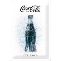 Blechschild Coca Cola Ice White Nostalgie Schild 30 cm Sign