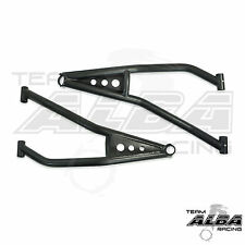 Polaris RZR XP 900 2 & 4 seat   High Clearance A Arms  Lower Alba Racing   Black