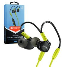 Canyon Bluetooth Sport Stereo Earbuds Headphones with Mic - Yellow / Black